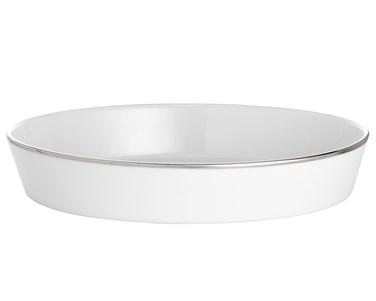 Bistro vati soikea valkoinen/hopea 31 cm Pillivuyt