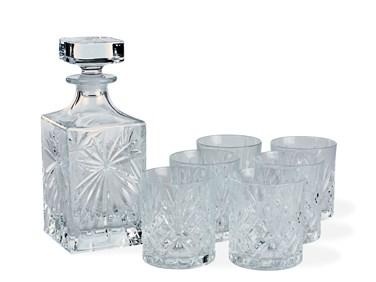 Melodi Whiskysetti laseilla ja karahvilla 7 osaa Lyngby Glas