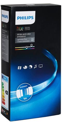 Philips Hue Color Lightstrip Plus, led-nauhan jatkopala 1 m