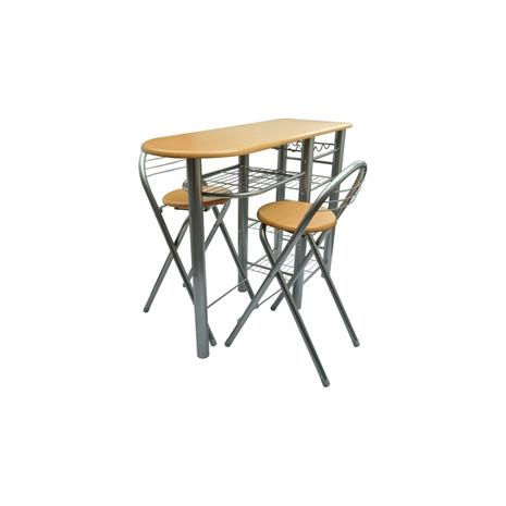 Baaripöytä ja kaksi tuolia