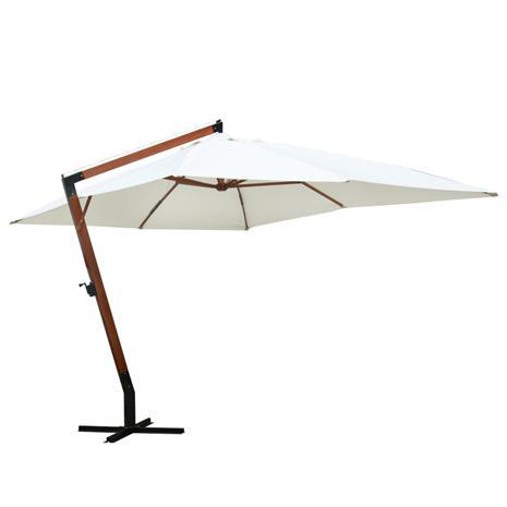 vidaXL Aurinkovarjo 300 x 400 cm Valkoinen