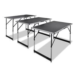 vidaXL Korkeussäädettävä Tapettipöytä 3-osaa