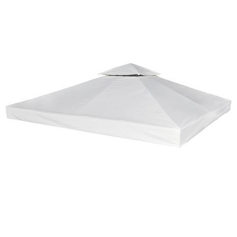 vidaXL Vesitiivis Huvimajan Katto 270 g / m² Valkoinen 3 x m