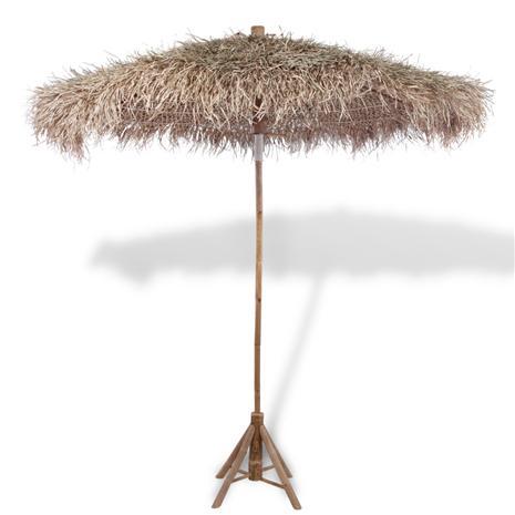 Aurinkovarjo 270 cm, bambu/banaaninlehti