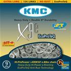 KMC X-9e E-Bike ketjut 9-vaihteinen, hopea