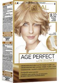 L'Oreal Excellence Age Perfect 8.32 Radiant Pearl Blonde, kestoväri