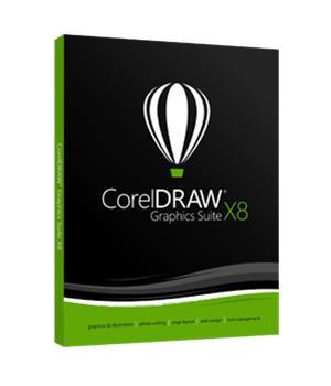 CorelDRAW Graphics Suite X8, ohjelmisto