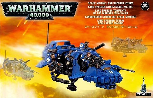 Space Marine Land Speeder Storm WH40