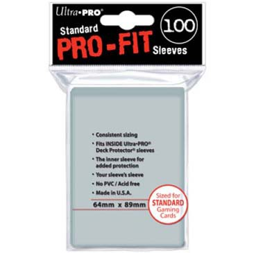 Ultra Pro Sleeves Pro Fit (100pcs, same as Perfect Size)