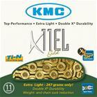 KMC X11 EL 11-speed chain gold 114gl.