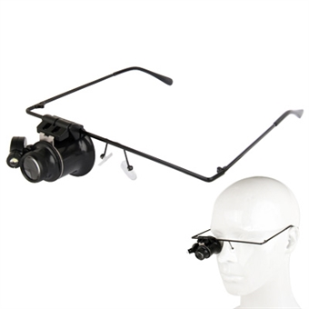 Suurentavat silmälasit joissa led-valo