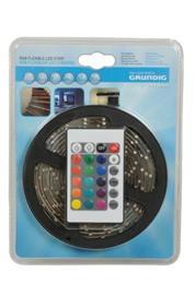 LED-nauha 3m RGB 60LED/m kaukosäätimellä