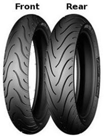 Michelin Pilot Street Front ( 120/70-14 RF TL 61P etupyörä, takapyörä, M/C )