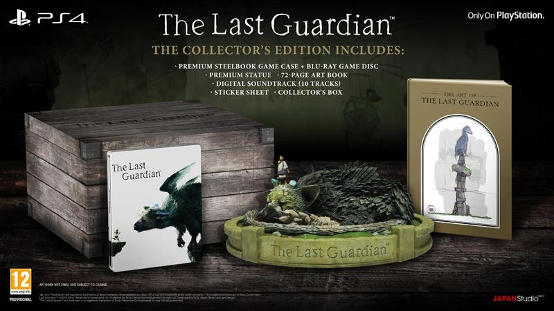 Last Guardian - Collector's Edition, PS4-peli