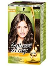 Schwarzkopf Natural&Easy 570 Aito Kastanja Keskiruskea hiusväri