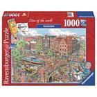 Amsterdam, palapeli 1000 palaa