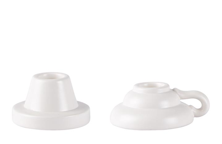 Kynttilänjalka Valkoinen 4,3 cm KJ Collection
