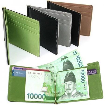 Lompakko seteliklipsillä - Mustaruskea