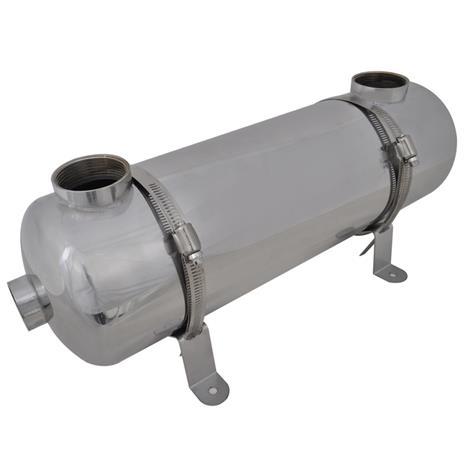 vidaXL, uima-altaan lämmövaihdin 485 x 134 mm 60 kW