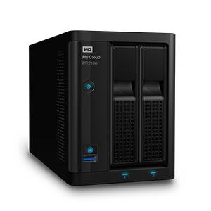WD My Cloud Pro Series PR2100 (0 TB) WDBBCL0000NBK, NAS-asema