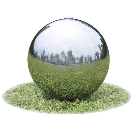 vidaXL, puutarhan lähde pallo LEDeillä ruostumaton teräs 40 cm