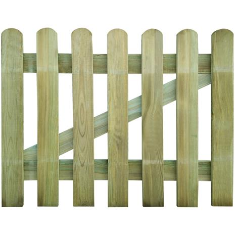 vidaXL, puinen puutarhaportti 100 x 80 cm