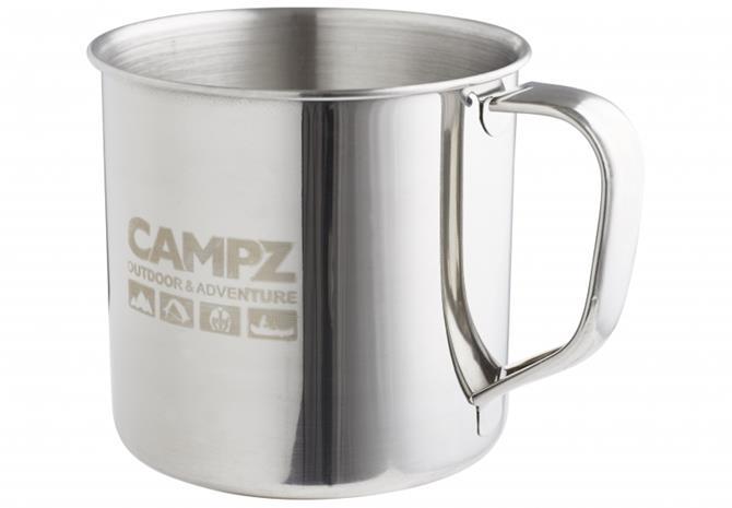 CAMPZ Edelstahlbecher juomapullo 500ml , harmaa