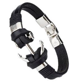 Herr Armband ankare svart | Swejuwel