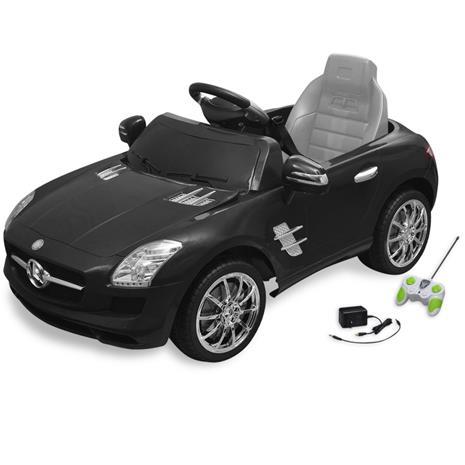 vidaXL Sähköinen Istuttava-auto Mercedes Benz SLS AMG Musta 6 V Kauko-ohjaimella