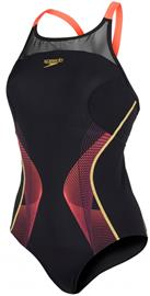 speedo Endurance+ Fit Pinnacle Naiset Uimapuku, punainen/musta