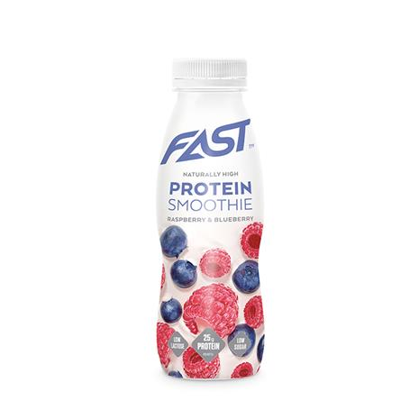 Natural Protein Smoothie, 330 ml, Raspberry & Blueberry