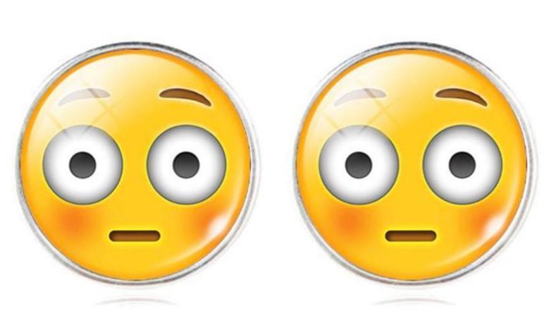Örhänge Emoji   Flushed Face