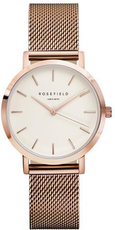 Rosefield Tribeca TWR-T50 White - Mesh Rose Gold