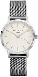 Rosefield Tribeca TWS-T52 White - Mesh Silver rannekello