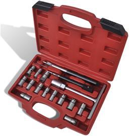 vidaXL 210282, 17-osainen diesel suuttimen seetien puhdistussarja