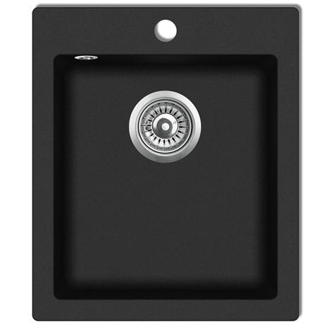 vidaXL 141672, graniitti keittiön pesuallas pintaasennettava musta