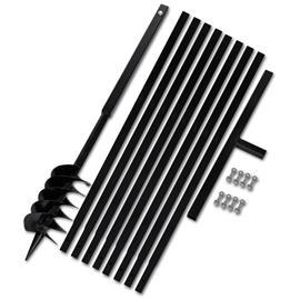 vidaXL 270524, maapora kahvalla 120 mm ja jatkeella 9 m teräs (141025 + 2 x 141029)