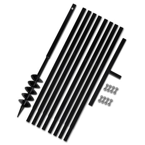 vidaXL 270520, maapora kahvalla 100 mm ja jatkeella 9 m teräs (141024 + 2 x 141029)