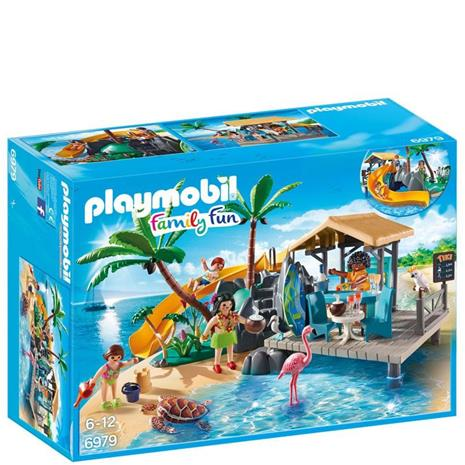 Playmobil 6979, saaren mehubaari ja liukumäki