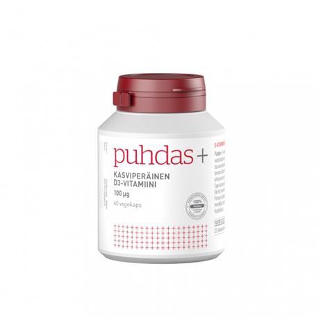 Puhdas+ Kasviperäinen D3-vitamiini 100 µg, 60 kaps.