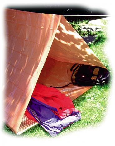 Coghlans hätäteltta teltta , oranssi