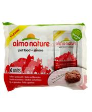 Almo Nature 6 x 55 g kanaa ja katkarapua kissanruoka