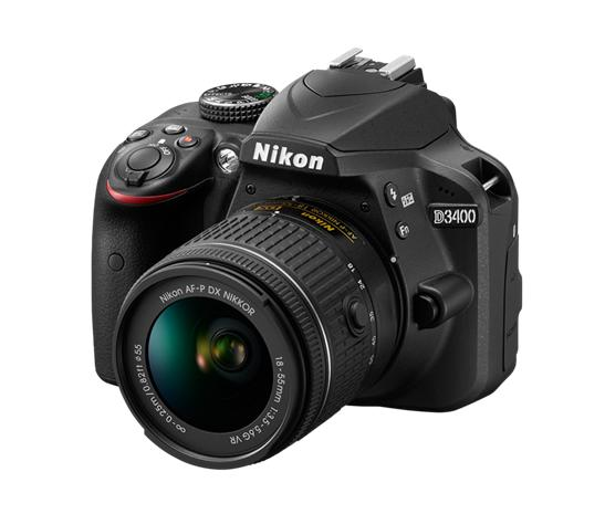 Nikon D3400 Kit (18-55mm VR), järjestelmäkamera