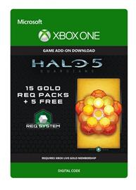 Halo 5: Guardians - 15 Gold REQ Packs + 5 Free, Xbox One Download