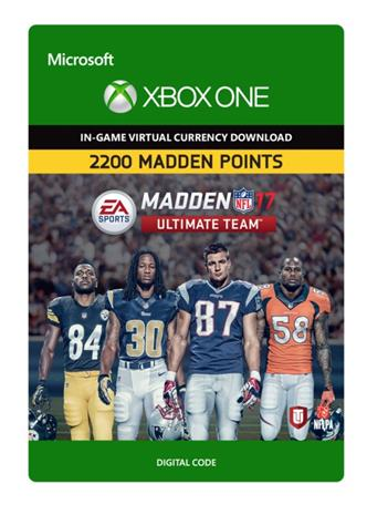 Madden NFL 17 - 2200 Ultimate Team Points, Xbox One -peli