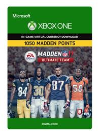 Madden NFL 17 - 1050  Ultimate Team Points, Xbox One -peli