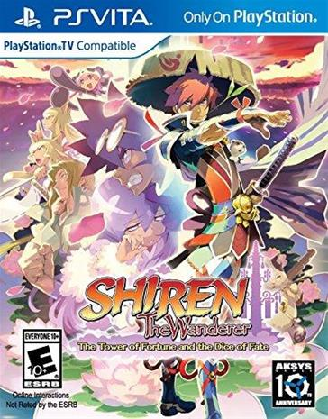 Shiren The Wanderer: The Tower of Fortune and the Dice of Fate, PS Vita -peli
