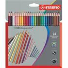 Stabilo Aquacolor, akvarellikynä 24 kpl kartonkipakkaus