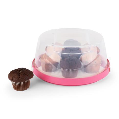 Klarstein Pinkkäppchen kakkukupu ä˜ 26 cm vaaleanpunainen