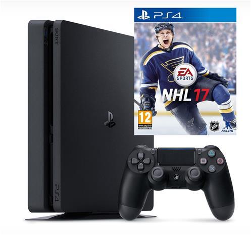 PlayStation 4 Slim (PS4, 500 GB) + peli, pelikonsoli